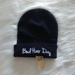 Accessories - Collection 18 Black Bad Hair Day Beanie